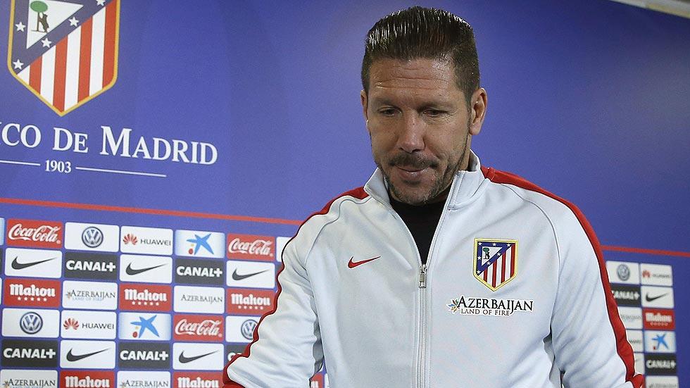 Simeone espera seguir ampliando la racha sin perder en el Calderón