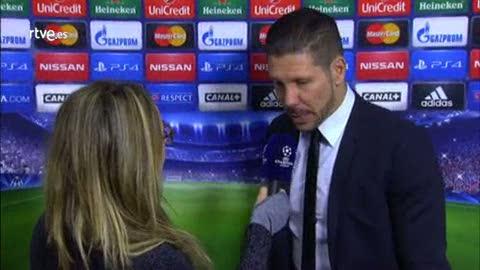"Simeone: ""Se jugó un partido con un nivel muy alto"""