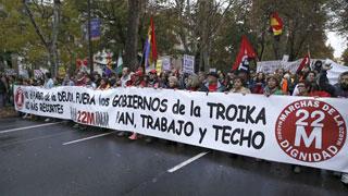 """Sindicatos y organizaciones sociales han convocado las llamadas """"Marchas de la Dignidad"""""""
