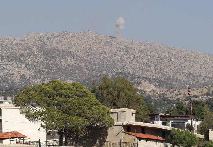 Smoke rises from shelling by the Israeli army towards the Lebanese Kfar Shouba hills near the Lebanese-Israeli border, southern Lebanon