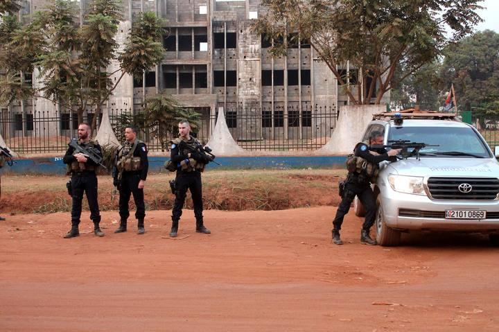 Soldados franceses en Bangui