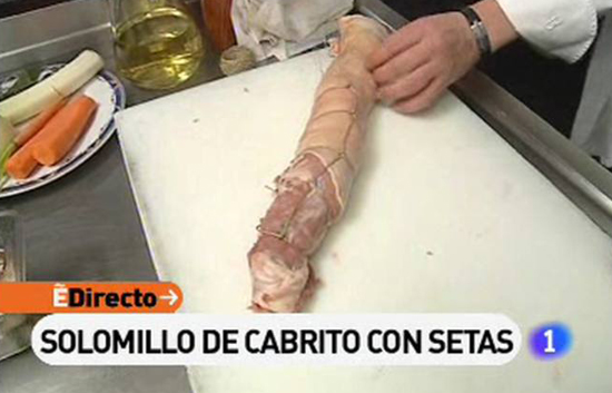 España Directo - Solomillo de cabrito con setas