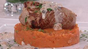 Saber Cocinar - Solomillo cerdo a la pimienta con patatas revolconas (01/03/2012)