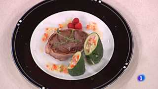 Cocina con Sergio - Solomillo albardado con vasitos de pepino