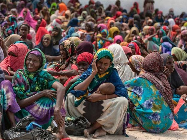 Somalia, devastada por 20 años de guerra, sufre una grave crisis humanitaria.