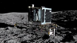 La sonda europea Rosetta lanza un módulo sobre la superficie de un cometa
