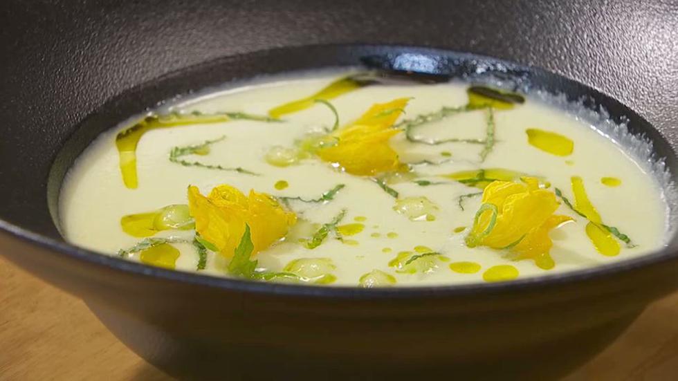 Torres en la cocina - Sopa fría de pepino