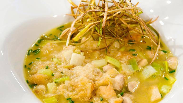 c mo preparar sopa instant nea de champi ones y puerros