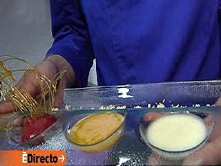 España Directo - Sopa de queso con frambuesa