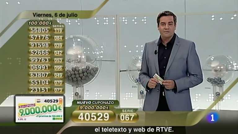 Sorteo ONCE - 06/07/12