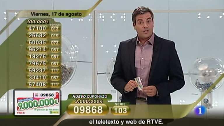 Sorteo ONCE - 17/08/12