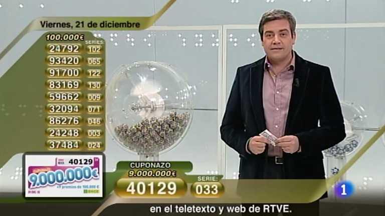 Sorteo ONCE - 21/12/12