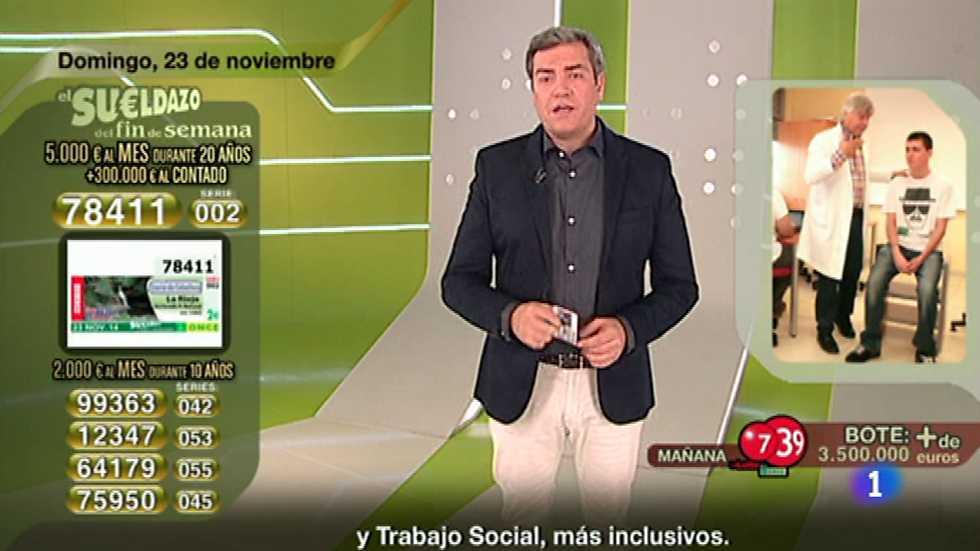 Sorteo ONCE - 23/11/14