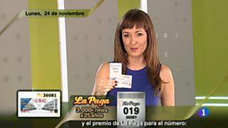 Sorteo ONCE - 24/11/14