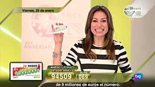 Sorteo ONCE - 25/01/13
