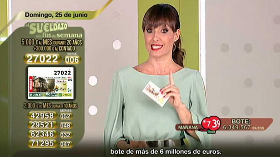Sorteo ONCE - 25/06/17