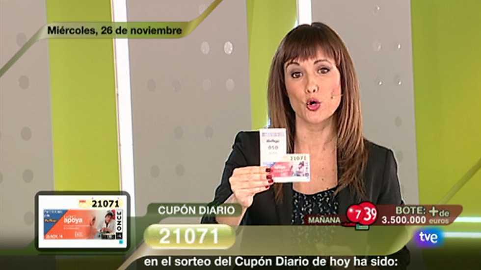 Sorteo ONCE - 26/11/14