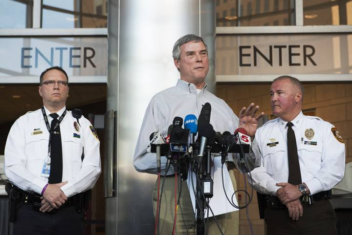 St. Louis County District Attorney Robert McCulloch speaks at a press conference in Clayton