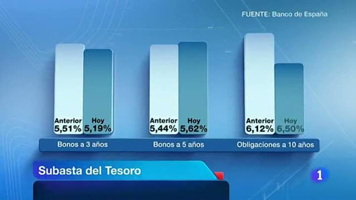 El Tesoro consigue 3.000 millones de euros a costa de pagar un 6,5%