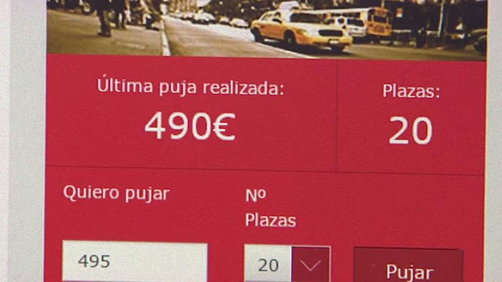 La subasta online de billetes de Iberia supera los 100.000 registrados