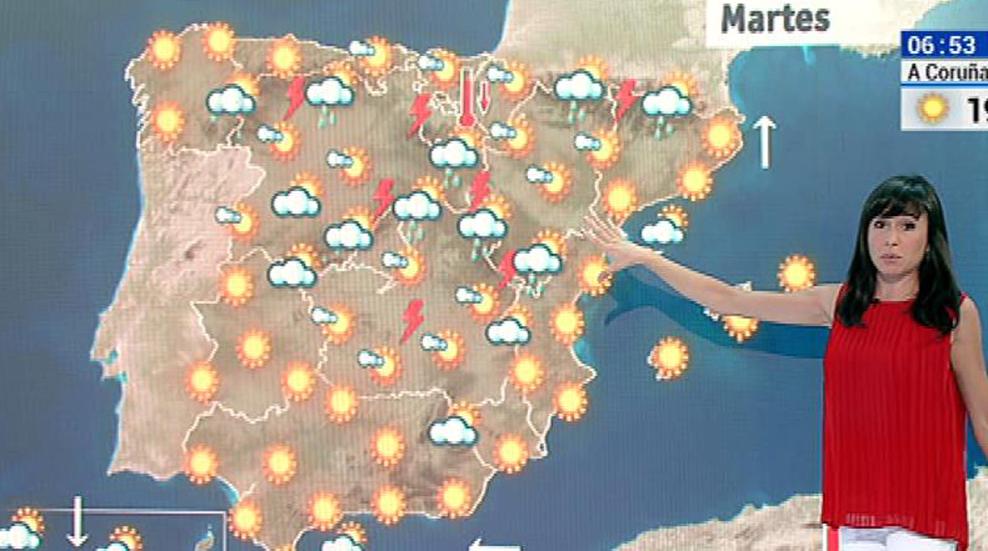 Temperaturas muy altas en el norte y tormentas en el sistema Ibérico