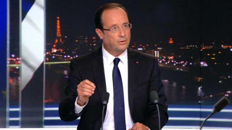 Hollande reducirá el déficit público subiendo los impuestos