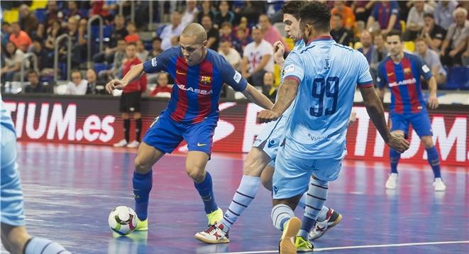 Sufrida victoria del Barça de fútbol sala sobre el Levante