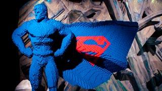 Los superhéroes de DC se convierten en esculturas de Lego
