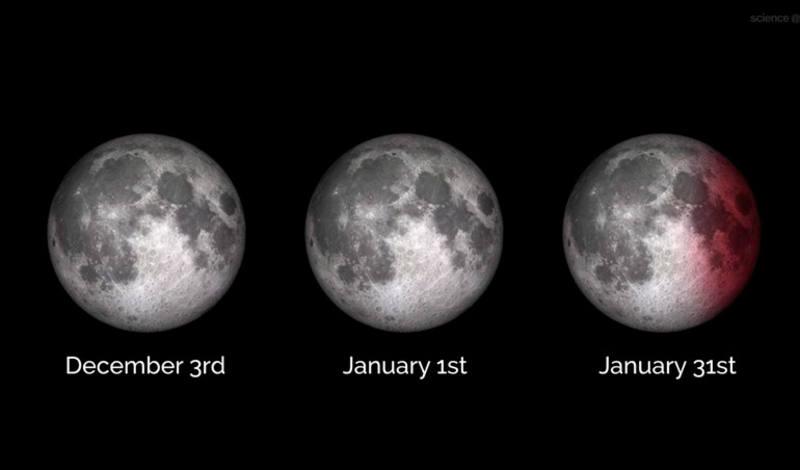 La superluna del 31 de enero de 2018 contará con un eclipse lunar total y se verá como una 'Luna de sangre'