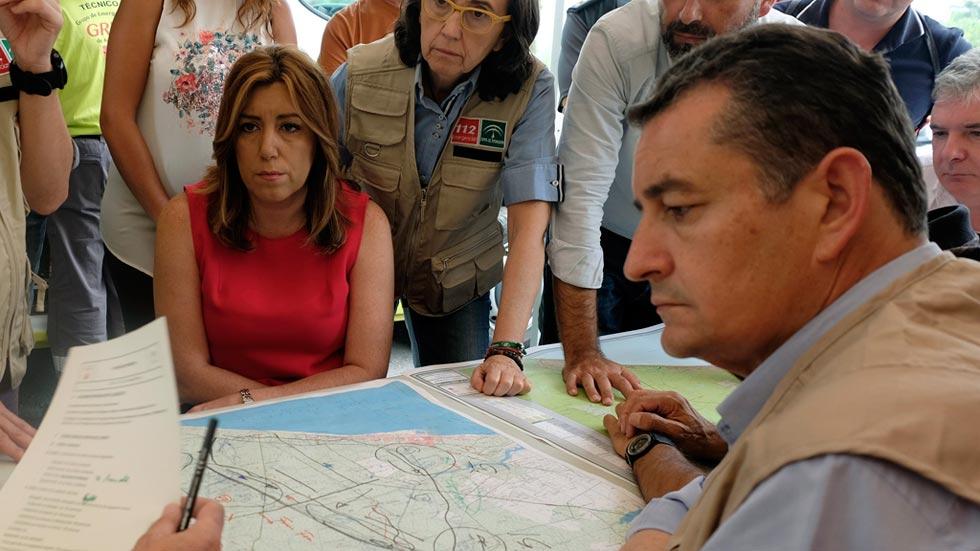 Susana Díaz afirma que no se recalificará ni un solo metro del suelo incendiado en Doñana