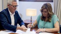 Ir al VideoSusana Díaz dice que respeta la decisión de Griñán y lo desvincula del caso de los ERE