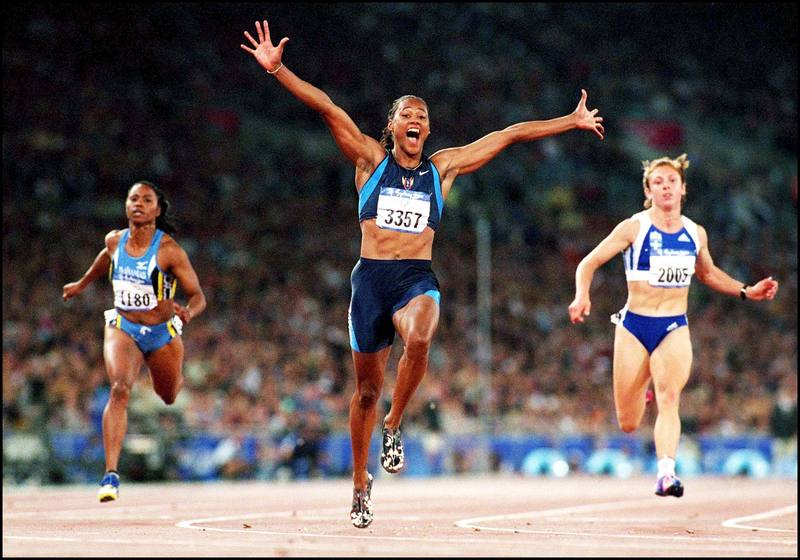 Sydney Olympics Games: Athletism: Women'S Final 100M In Sydney, Australia On September 23, 2000.