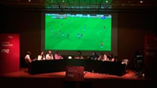 Tablero deportivo llevó la emoción del Italia - España a la UFV