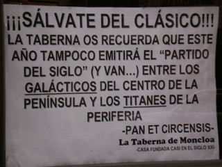 En los taxis se habla del 'clasico'