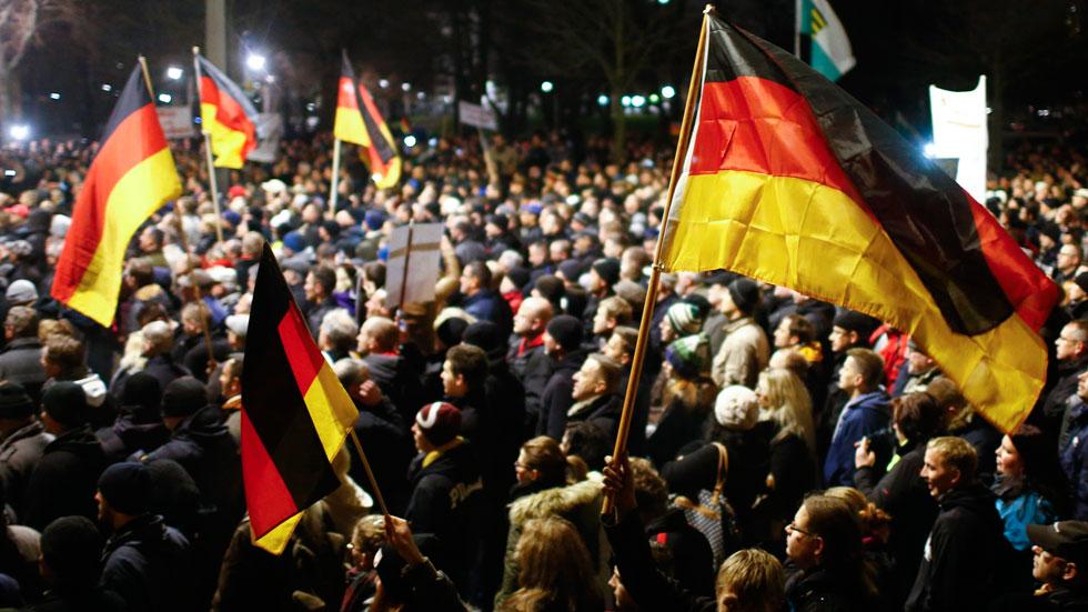 """Los """"Patriotas Europeos contra la Islamización de Occidente"""" se manifiestan en Dresde"""