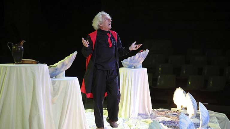 El actor Rafael Álvarez afronta el reto de resumir la extensa odisea de Ulises en dos horas