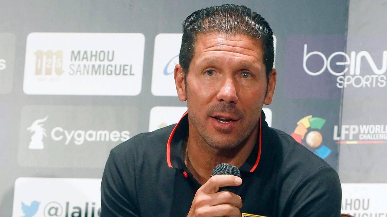 El técnico del Atlético de Madrid, Diego Simeone.
