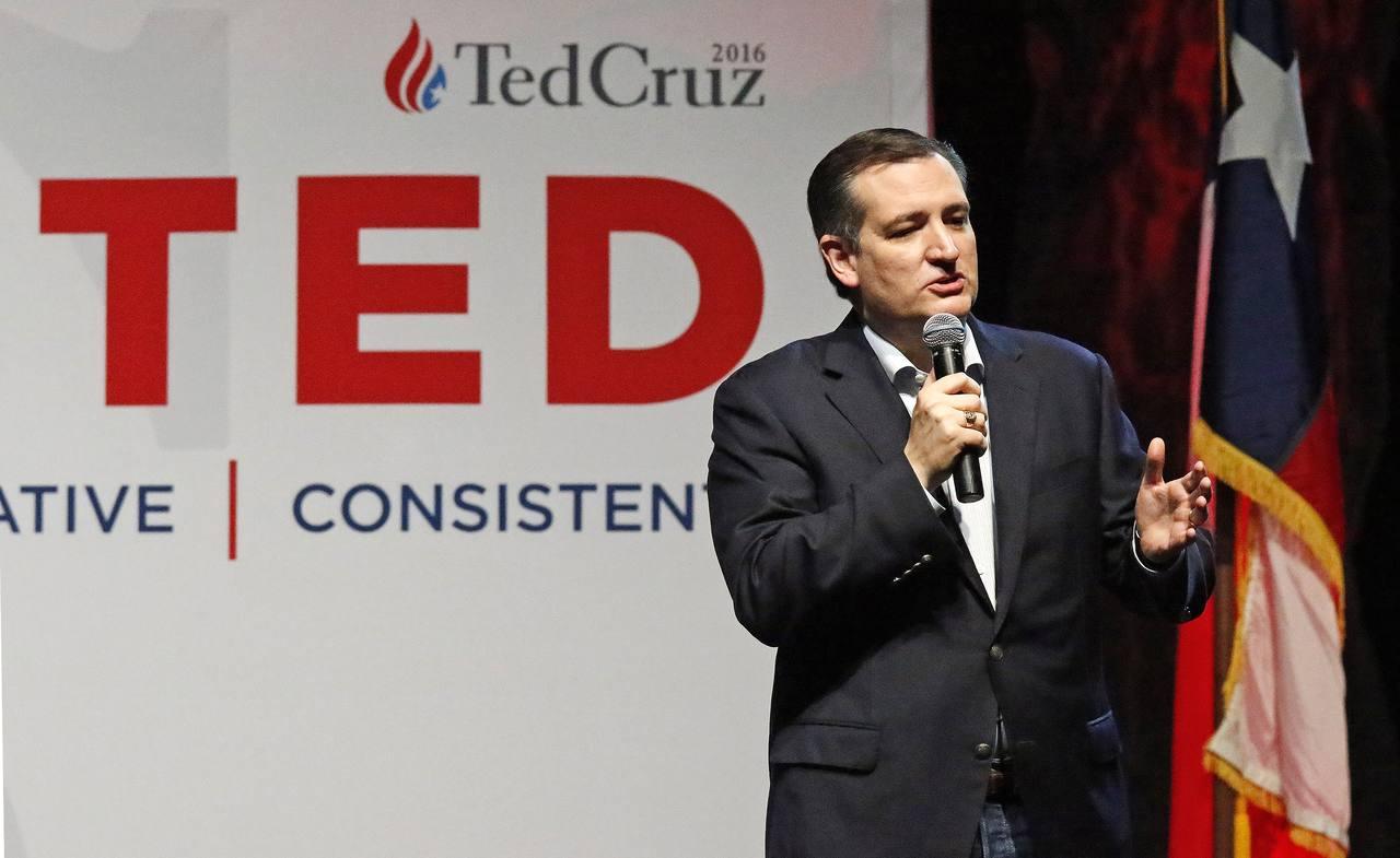 Ted Cruz, en un mitin celebrado en Dallas, una de las principales ciudades de Texas