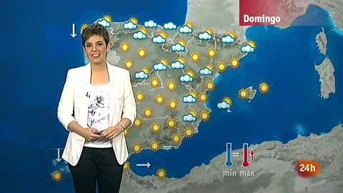 Temperaturas altas en el valle del Tajo en Toledo y nubes en el norte