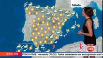 Las temperaturas bajan en el norte, el área mediterránea y en Canarias