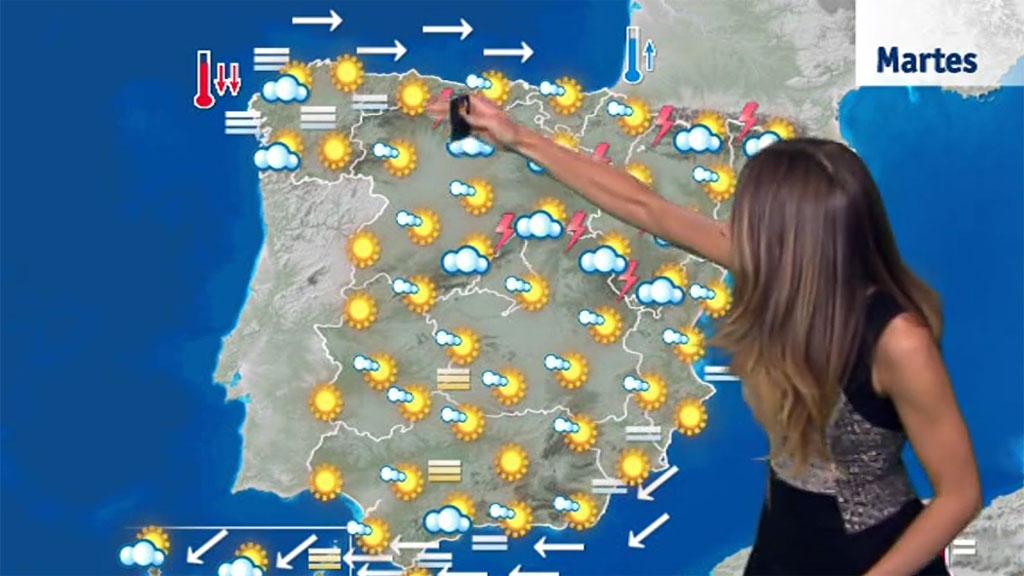 Temperaturas más altas en el interior de la península y Canarias