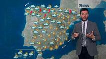 Temperaturas muy altas en el interior y fuertes tormentas en noroeste