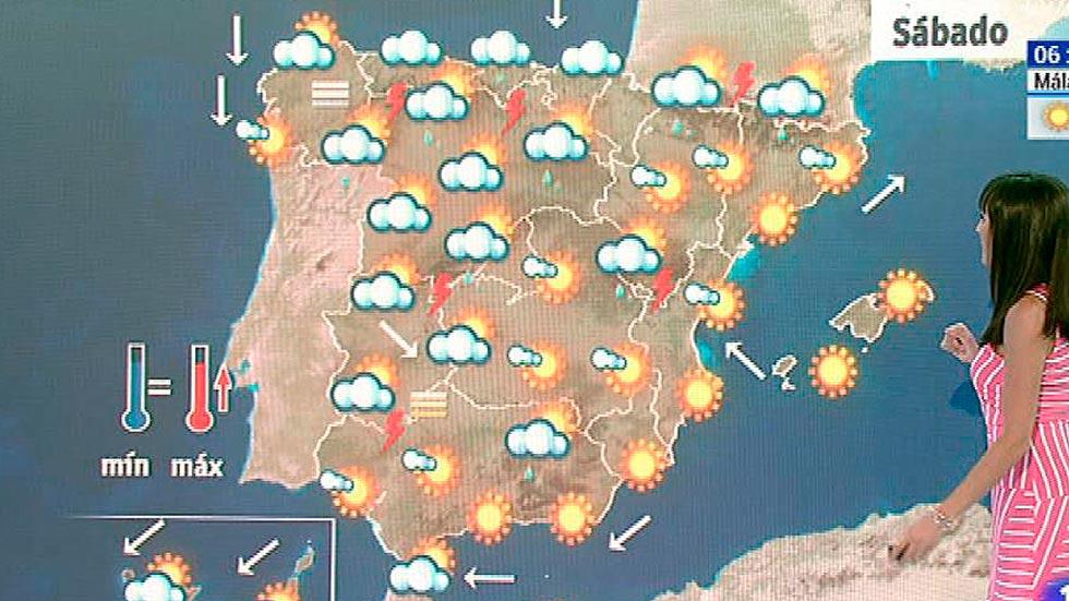 Temperaturas muy altas en el interior peninsular