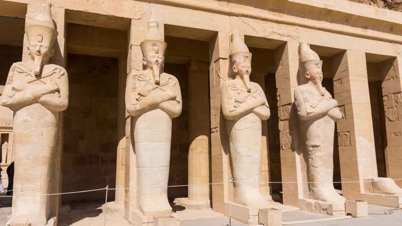 El templo funerario de Hatshepsut en Egipto