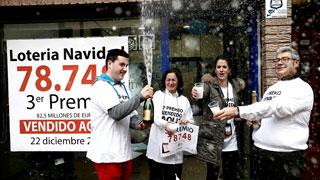 El tercer premio de la lotería de Navidad de 2016 se vende íntegro en Navarra