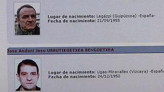 Josu Ternera y De Juana Chaos, entre los terroristas más buscados por la Policía Nacional