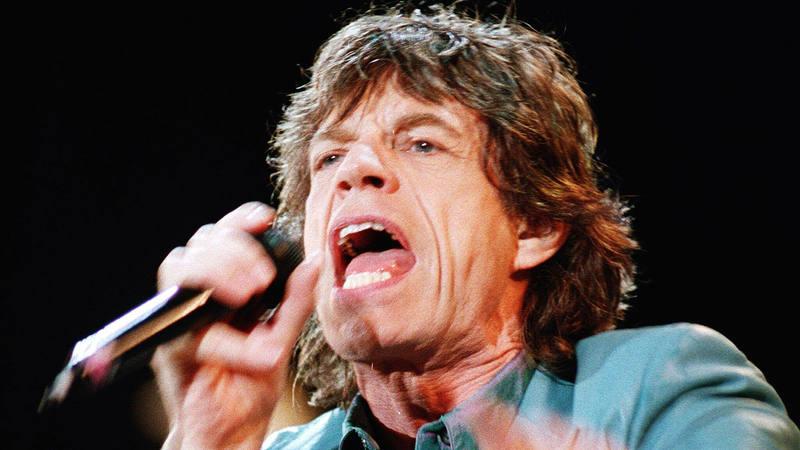 The Rolling Stones, durante su visita a Santiago de Compostela en 1999