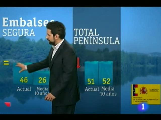 El tiempo en la comunidad de Murcia.(16/08/2012).