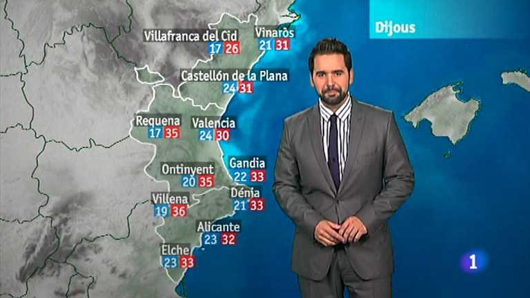 El tiempo en la Comunidad Valenciana - 01/08/12