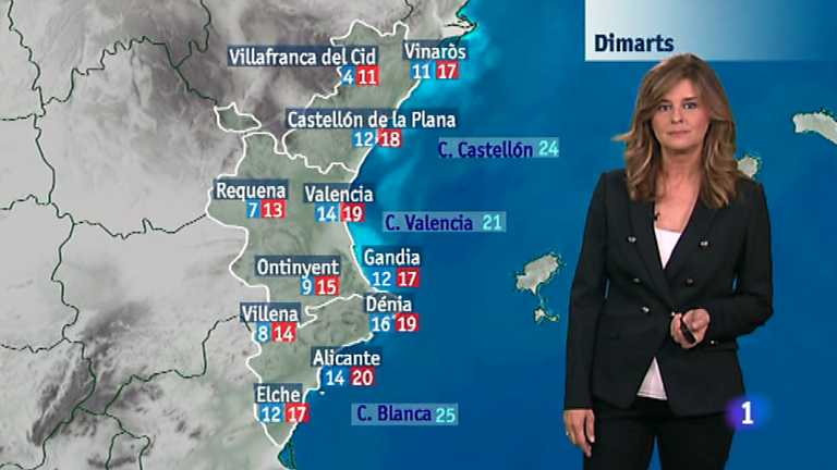 El tiempo en la Comunidad Valenciana - 03/11/14